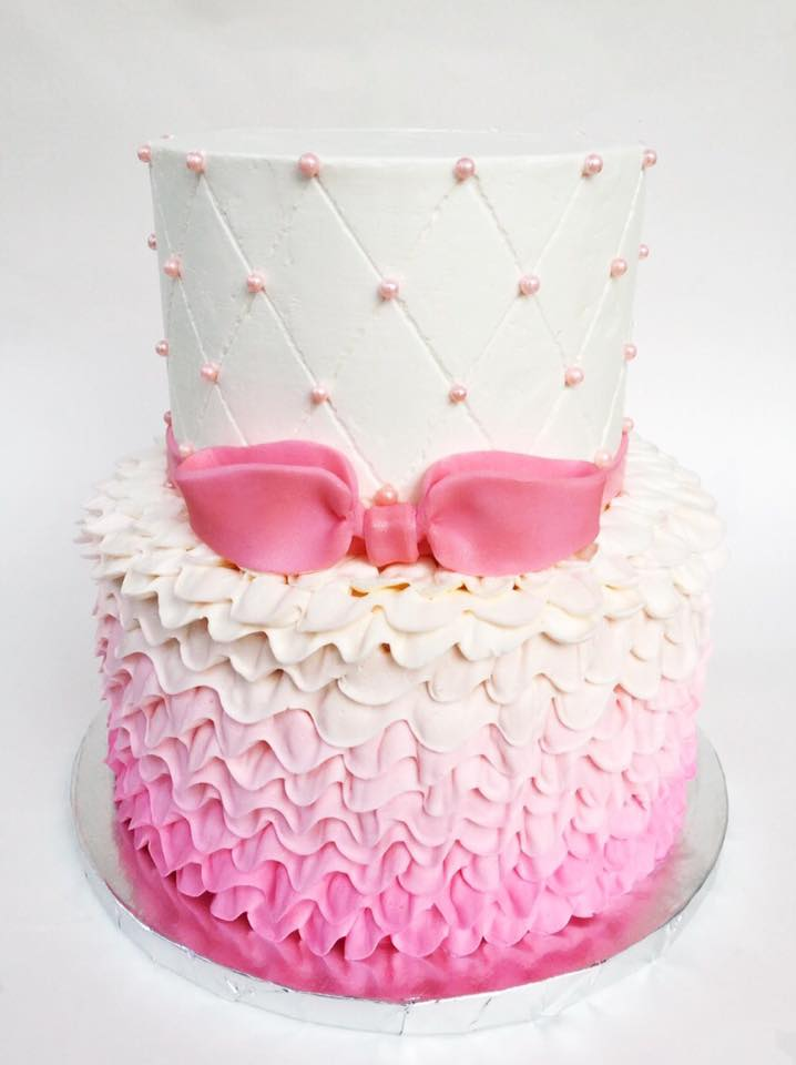 Pretty In Pink Birthday Cake Whisk Sweets Custom Cakes Cupcakes