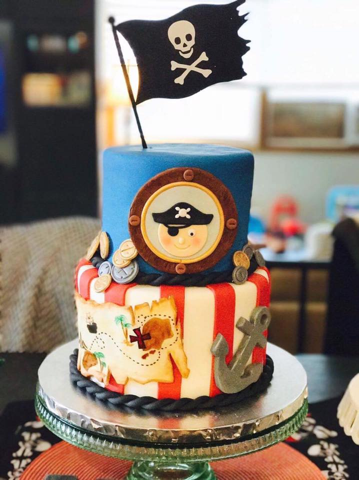 Ahoy Matey Pirate Cake Whisk Sweets Custom Desserts